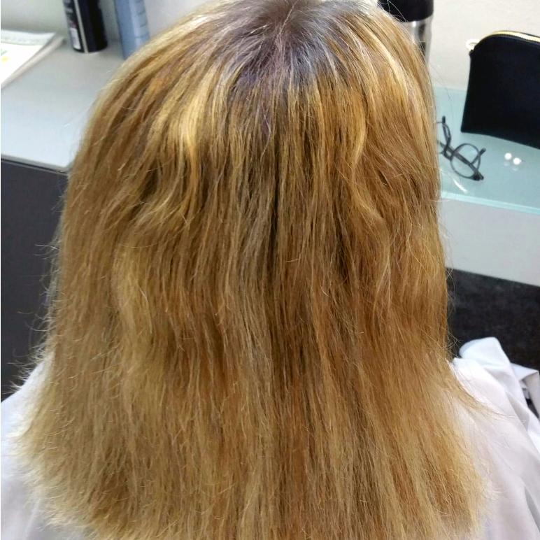 Frisur vorher
